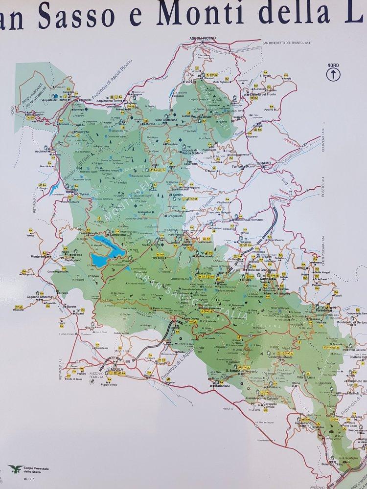 Cartina Gole del Salinello