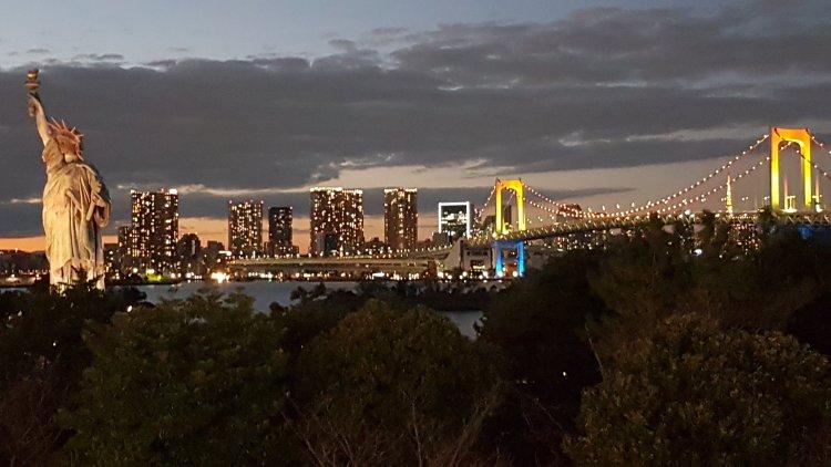 Rainbow bridge.Tokyo